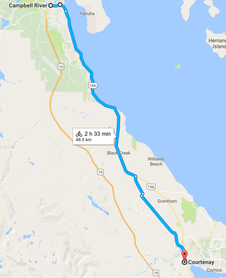 Campbell River to Courtenay Coastal