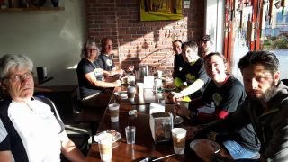 Coffee and sticky bun breakfast at the Ladysmith Old Town Bakery