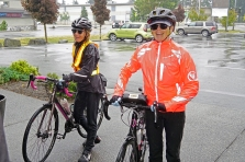Wendy and Sister looking cheerful despite the wetness.