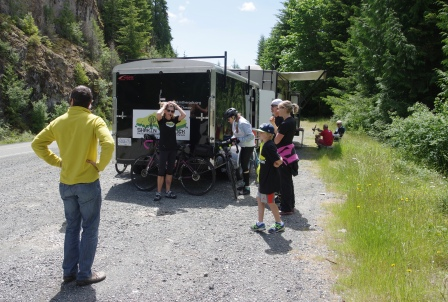 Stopping for Lunch on Day 1