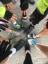 Pedalers Showing Off Hands and Feet