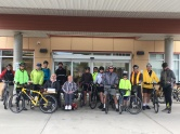 Visiting 2 Parky's at the New Horizons retirement home on our way out of Campbell River.