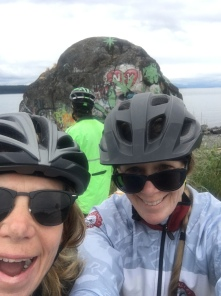 Two-Person Selfie. Hey! Where'd that rock come from? Photobomb!
