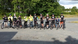 Pedalers about to Leave Port Hardy